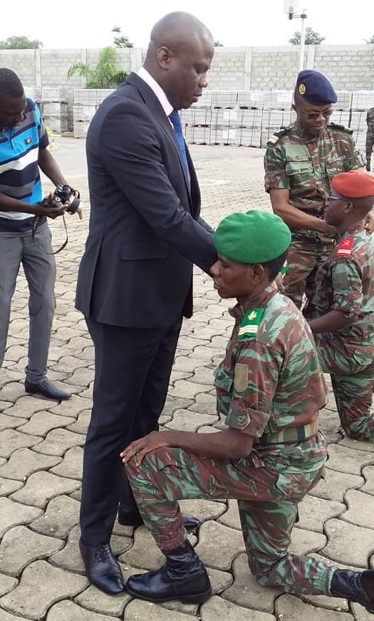 Bénin : Akakpo S. CHABI, chef de sécurité de la cour constitutionnelle accède au grade de Capitaine