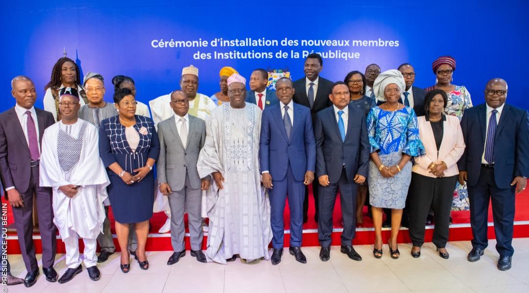 Bénin : Prise de service des  nouveaux membres des Institutions de la République