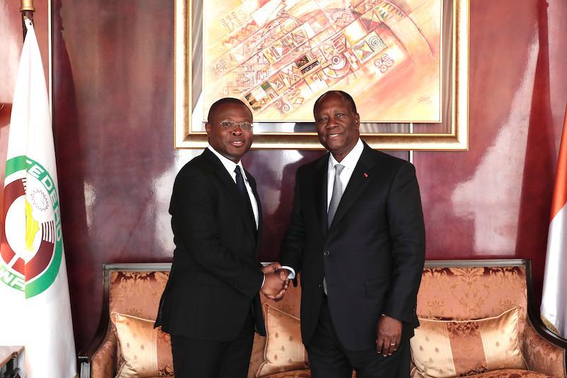 UEMOA : Ouattara satisfait des chantiers conduits par Wadagni
